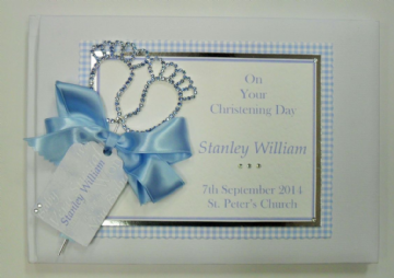 Baby Boy's Christening Guest Book